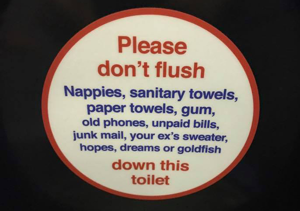 Dontflushthis 7 things you should never flush down a toilet san jose water company - Things never flush ...