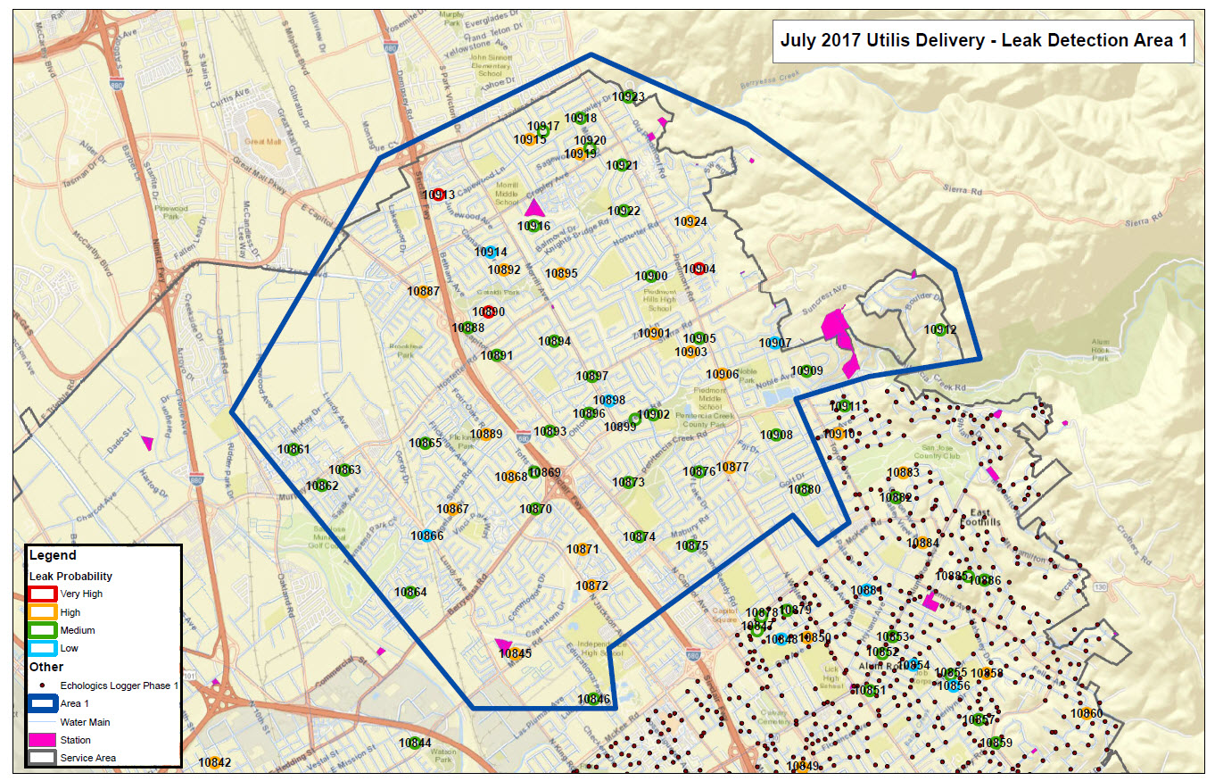 How SJW Uses CuttingEdge Water Loss Prevention Tech San Jose - San jose water supply map